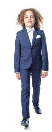 Alex Boys 2pc Suit -Navy/Blue Check